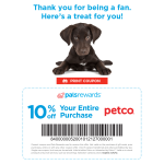 Printable Pet Coupon – Save 10% at Petco