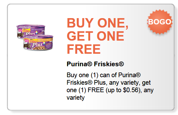 Friskies pet food coupons printable