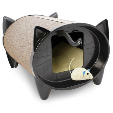 The SkratchKabin Is The New Stylish Dual Purpose Cat Bed Cat Scratcher With  Unique Feline Shaped Ends Which Gives Your Fabulous Felines The Chance To  ...