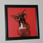 Chihuahua with a Mustache Painting–Irresistible Find at Target!