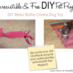 Irresistible & Free DIY Pet Projects: DIY Water Bottle Crinkle Toy
