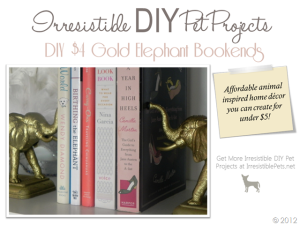 DIY $4 Gold Elephant Bookends