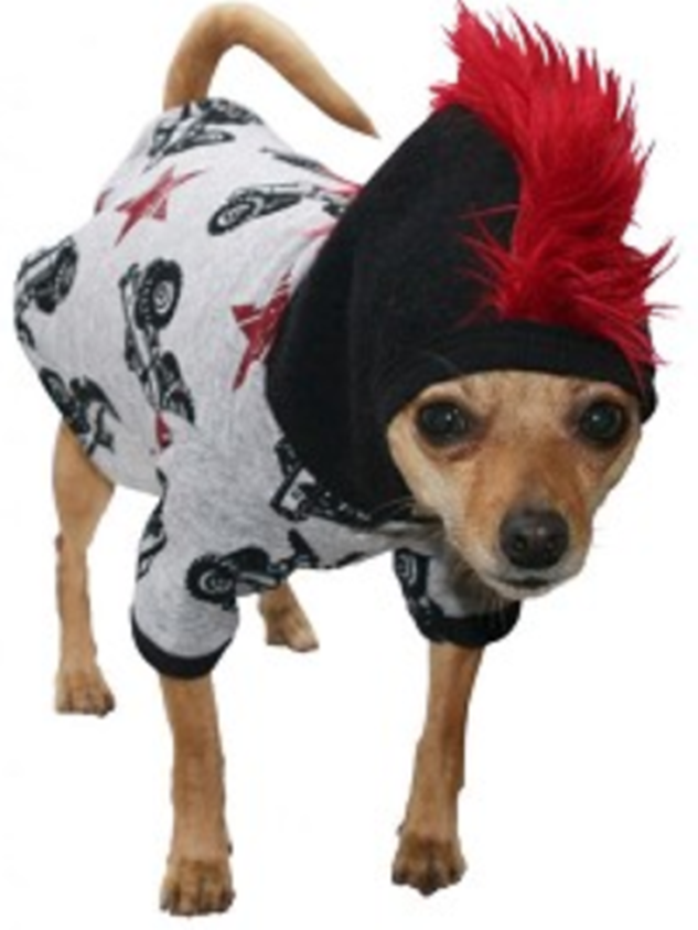 Irresistible Finds - Bad to the Bone - Mohawk Dog Outfit