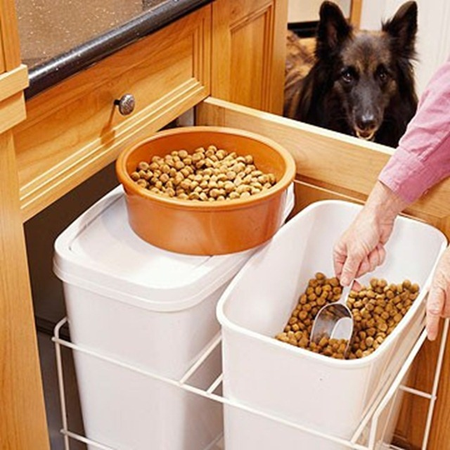 Pet Food Storage Drawer