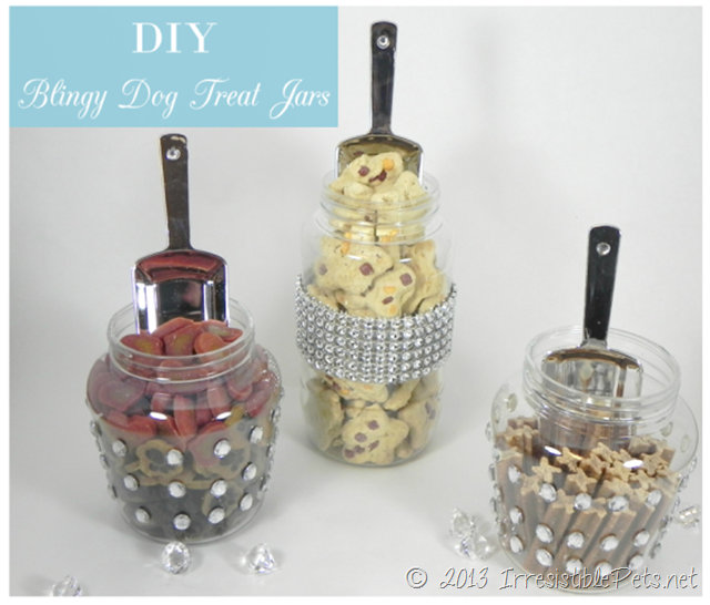 DIY Bling Dog Treat Jars from IrresistiblePets.net
