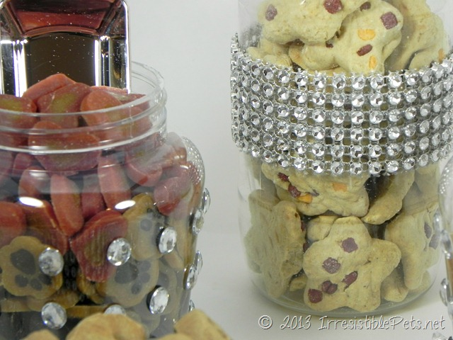 DIY Blingy Dog Treat Jars for Dog Wedding Treat Bar