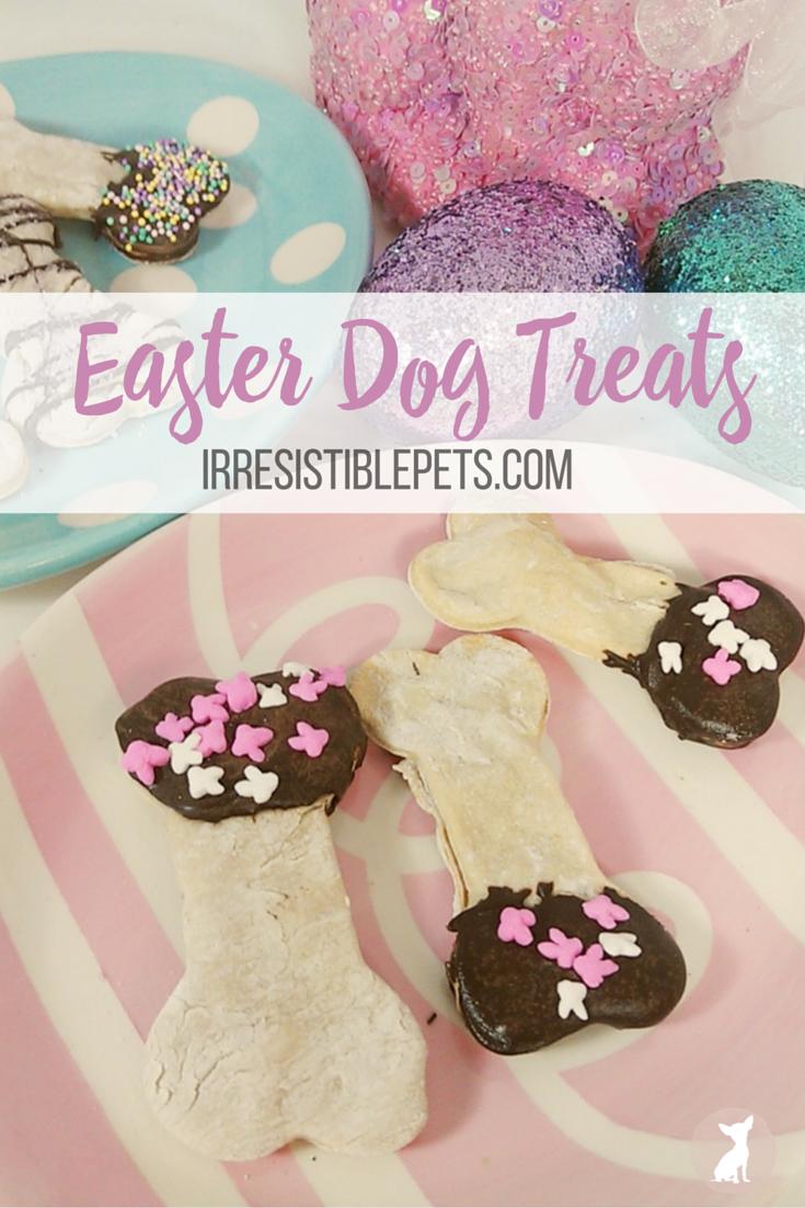 DIY Easter Dog Treats by IrresistiblePets.com