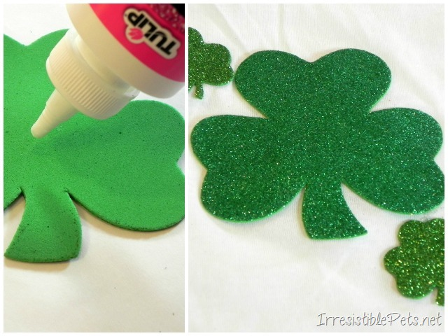DIY Shamrock Dog Shirt - Directions