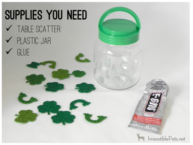 DIY St Patrick's Day Pet Treat Jar - Supplies You Need