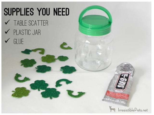 DIY St Patrick's Day Pet Treat Jar - Supplies You Need