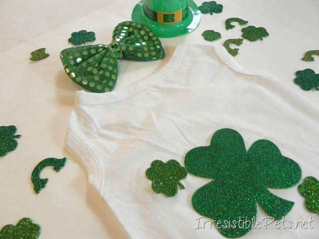 DIY Shamrock Dog Shirt via IrresistiblePets.net