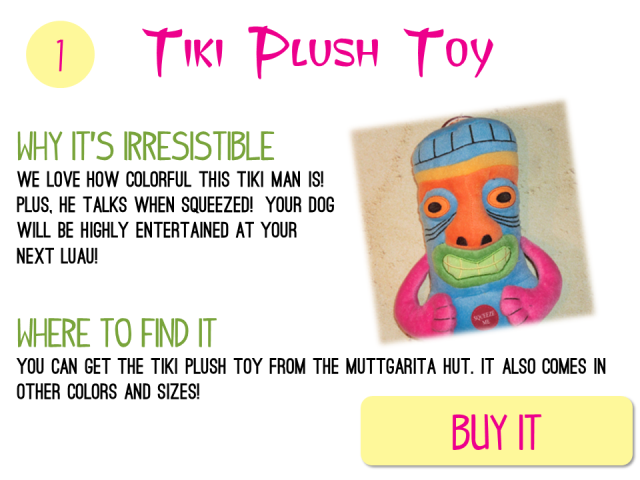 1 - Tiki Plush Toy
