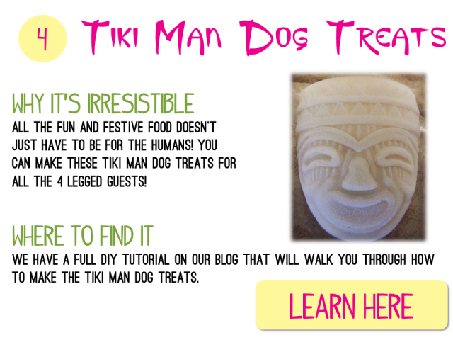 4 - DIY Tiki Man Dog Treats