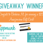 Chippmunk Giveaway Winner