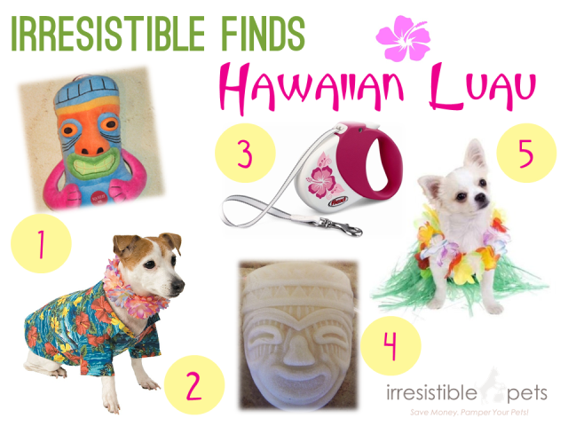 Irresistible Finds - Hawaiian Luau via IrresistiblePets.co