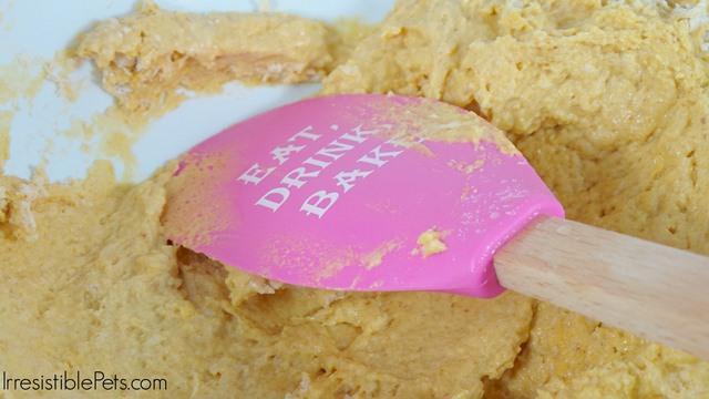 Pumpkin Cheesecake Dog Treat Recipe - Mix Ingredients