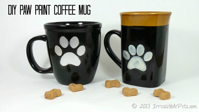 DIY Paw Print Coffee Mugs at The Bark Post