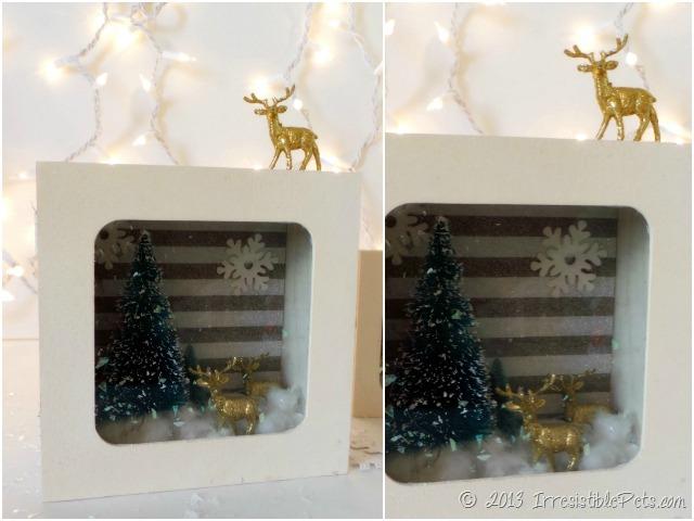 DIY Winter Wonderland Diorama Gold Reindeer