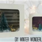 DIY Winter Wonderland Diorama