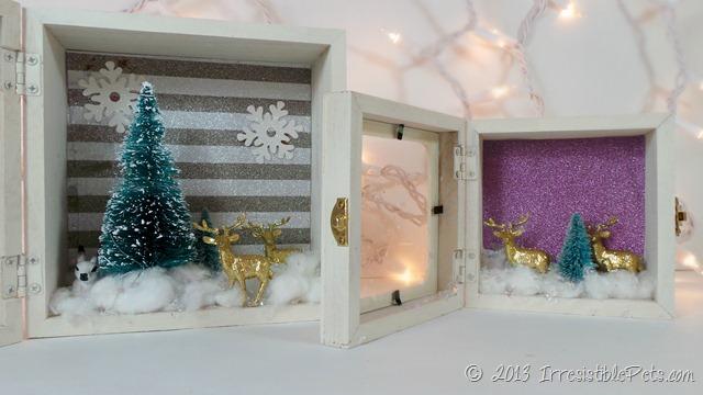 DIY Winter Wonderland Diorama at IrresistiblePets.com