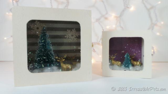 DIY Winter Wonderland Diorama by IrresistiblePets.com