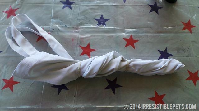 DIY Patriotic Tie Dye Beach Bag Sections