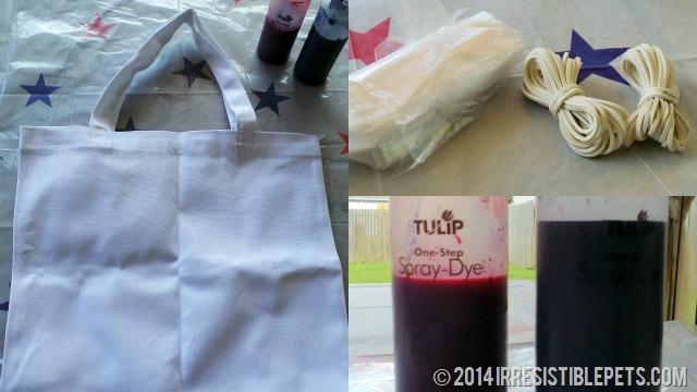 DIY Patriotic Tie Dye Beach Bag Supplies Needed