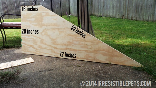 DIY Dog Ramp Angled Sides