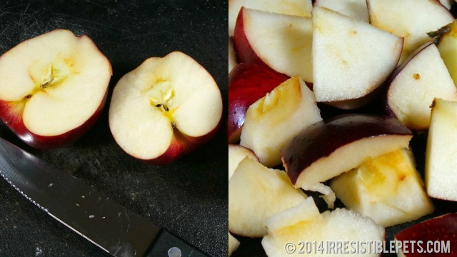 DIY Frozen Apple Dog Treat Recipe - Apple Slices