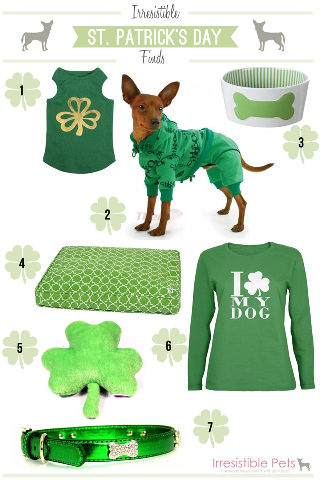 St Patrick's Day Irresistible Finds for Pets by IrresistiblePets.com