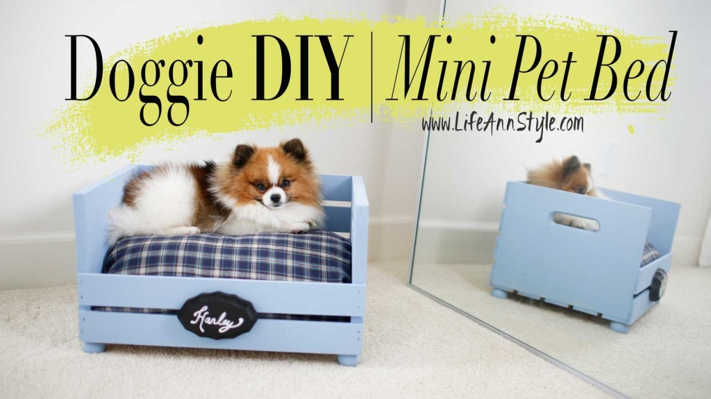 DIY Doggie Mini Bed LifeAnnStyle