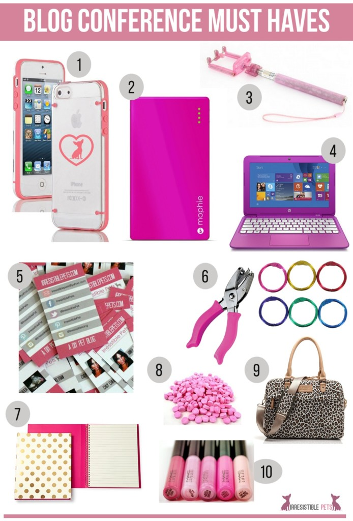Blog Conference Must Haves from IrresistiblePets.com