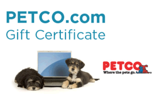 Furryboo Daily Deal: $12 for $20 PETCO com Online Gift Certificate