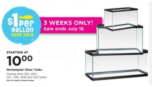 1 per gallon fish tank sale at petco irresistible pets for Fish tanks for sale at walmart