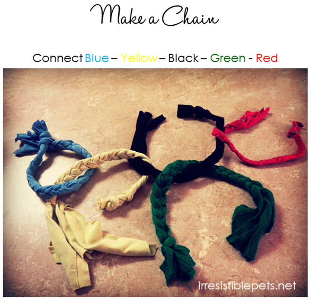 DIY Olympic Rings Dog Toy Make a Chain