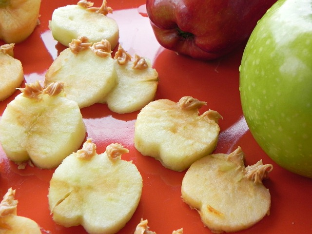 DIY Apple Peanut Butter Dog Treats