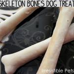 Howl-O-Ween {DIY Skeleton Bones Dog Treats}