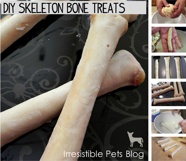 DIY Skeleton Dog Bones Treats for Halloween