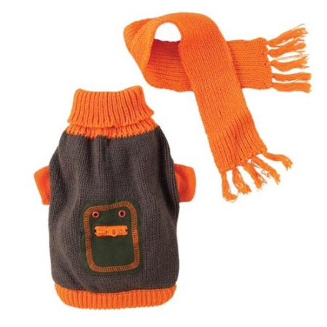 Trip to the Pumpkin Patch - Orange Dog Sweater