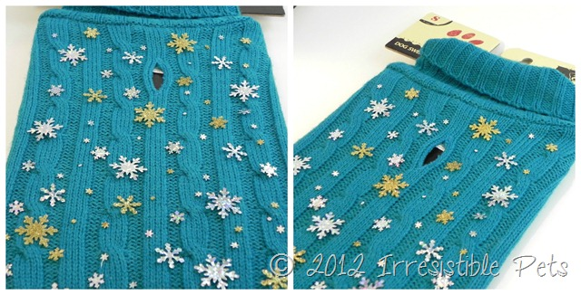 DIY Winter Wonderland Dog Sweater via IrresistiblePets.net- Step 2