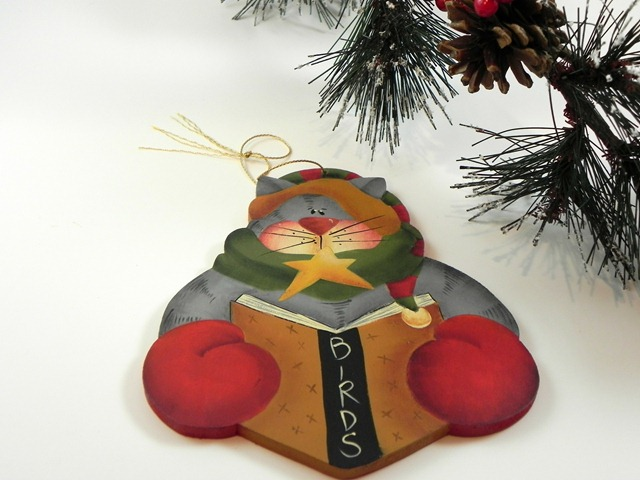 Hand Painted Bird Christmas Ornament via Tole Painting Diva on Etsy