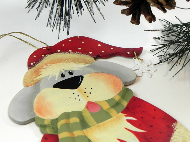 Hand Painted Dog Christmas Ornament via Tole Painting Diva on Etsy