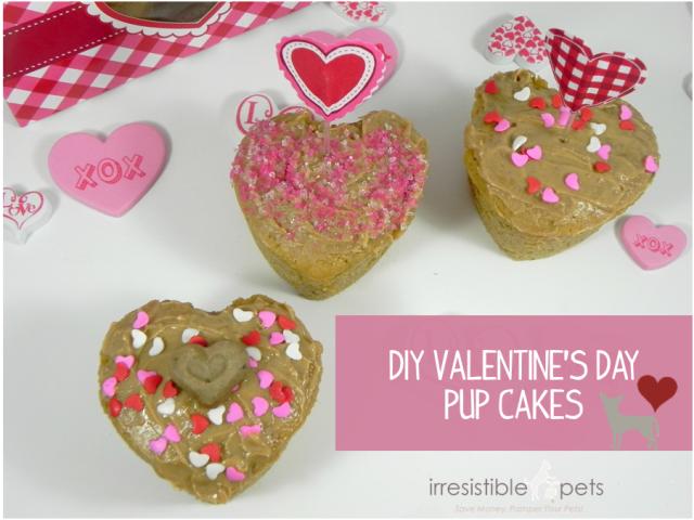 DIY Valentine's Day Pup Cakes