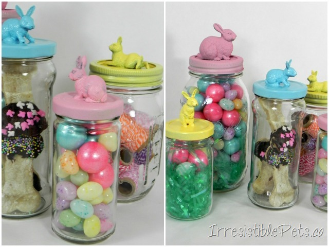 Irresistible Bunny Jars - Finished Project