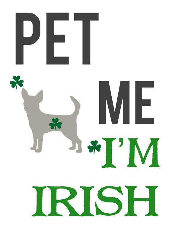 Pet Me I'm Irish Free Printable from IrresistiblePets.net