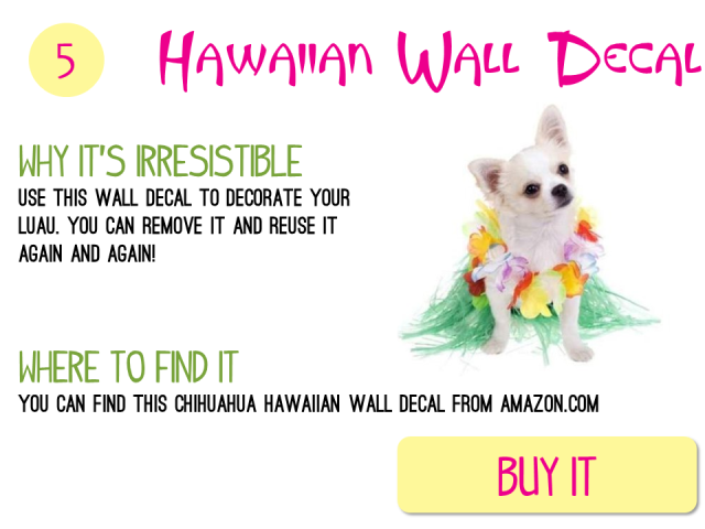 5 - Hawaiian Dog Decal