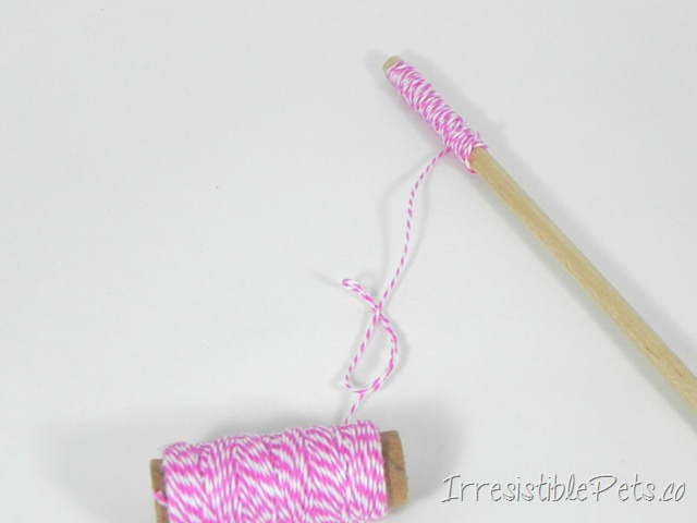DIY Cat Wand Step One via Irresistible Pets.co