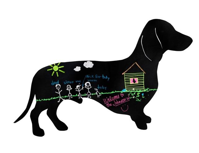 Steadfast Chalk Weiner Dog