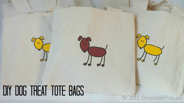 DIY Dog Treat Tote Bags from IrresistiblePets.com