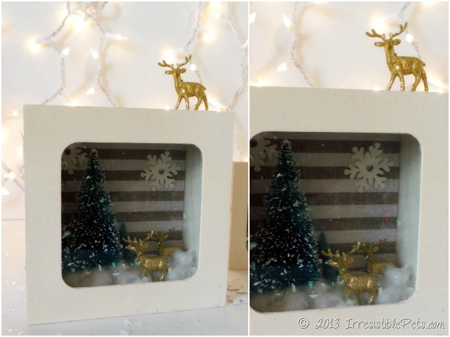 DIY Winter Wonderland Diorama Gold Reindeer